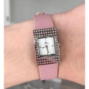 Lacoste pink watch with Swarovski crystals